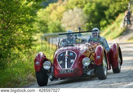 Sant'anatolia Di Narco,umbria,  Italy, Healey Silverstone Attends The Mille Miglia Historic Race On