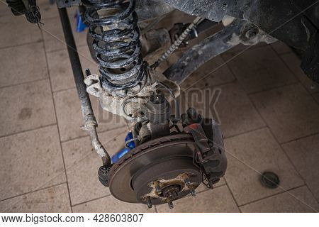 Brake And Suspension Of The Car