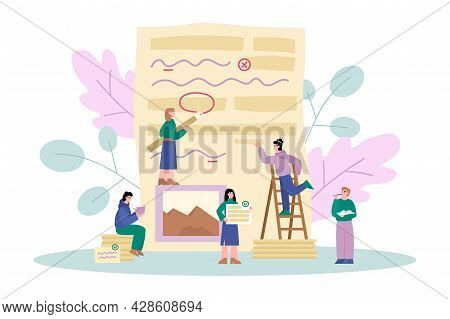 Grammar Editor And Copywriting Services, Flat Vector Illustration Isolated.