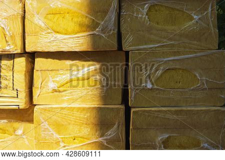 Thermal Insulation Materials, Mats, Plates. Insulation Of The Walls Of A Multi-storey Building, Buil