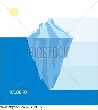 Iceberg Under And Above Water, Business Infographic, Polygon Vector Illustration, Element Template,