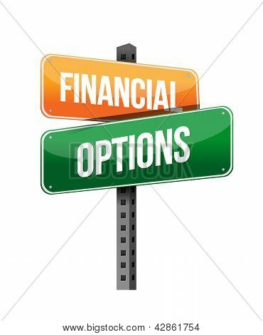 Financial Options Sign
