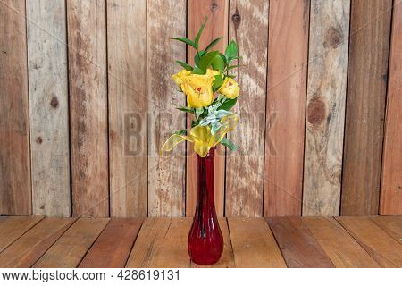 Beautiful Bouquet Of Arranged Yellow Roses Stating Love Is Given As An Emotional Sentiment.