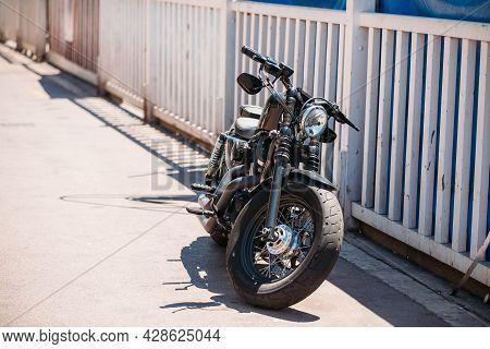 Marseille, France - June 30, 2015: High Power Motorcycle Harley-davidson. Harley-davidson Sustains A