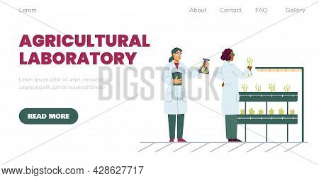 Web Banner For Agriculture Laboratory To Biotechnology Experiments Plant Breeding