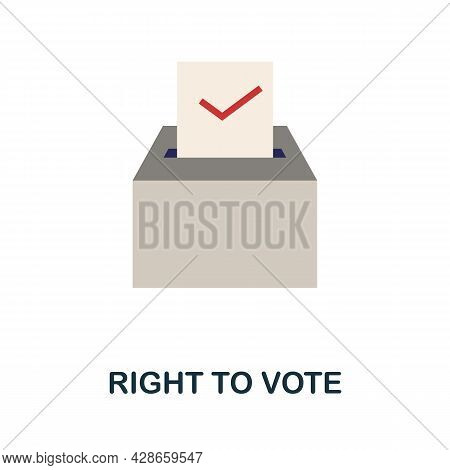 Right To Vote Flat Icon. Color Simple Element From Activism Collection. Creative Right To Vote Icon