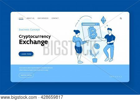 Online Cryptocurrency Exchange. Bitcoin Transactions And Analysis Of Financial Information. Electron