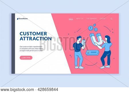 Attracting New Online Customers. Campaign Marketing With Web Strategy Of User Consultation. Digital