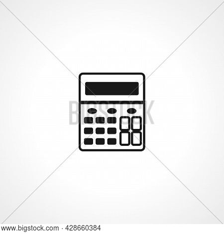Calculator Icon. Calculator Simple Vector Icon. Calculator Isolated Icon.