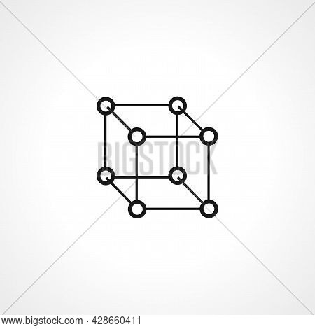 Cube Icon. Cube Simple Vector Icon. Cube Isolated Icon.