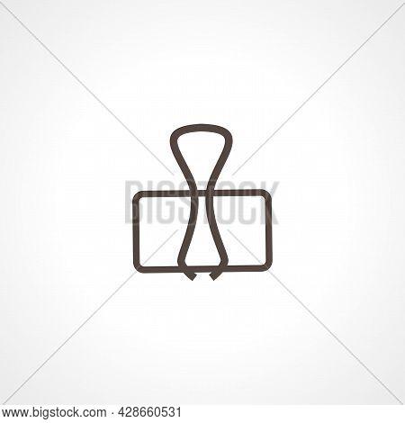 Binder Clip Icon. Binder Clip Simple Vector Icon. Binder Clip Isolated Icon.