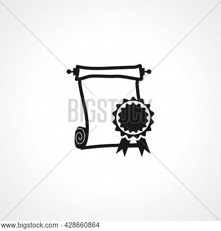 Graduate Roll Of Diploma Icon. Graduate Roll Of Diploma Simple Vector Icon. Graduate Roll Of Diploma