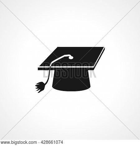 Graduation Cap Icon. Graduation Cap Simple Vector Icon. Graduation Cap Isolated Icon.