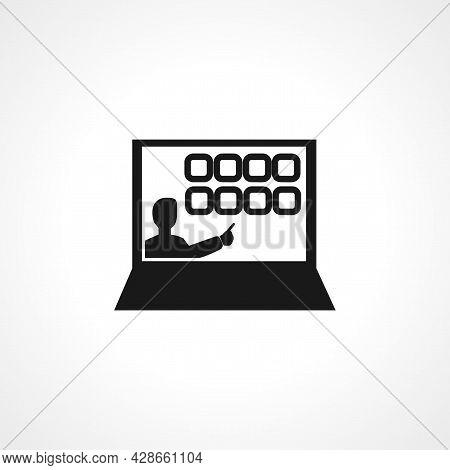 Interactive Course Icon. Interactive Course Simple Vector Icon. Interactive Course Isolated Icon.