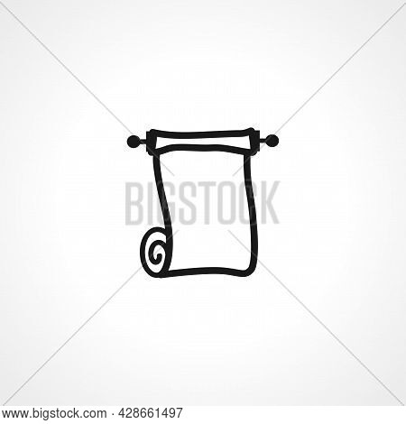 Paper Roll Icon. Paper Roll Simple Vector Icon. Paper Roll Isolated Icon.