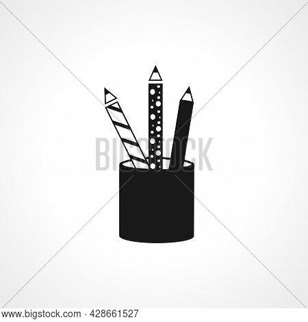 Pencil Icon. Pencil Simple Vector Icon. Pen Isolated Icon.