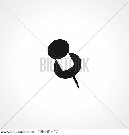 Pin Icon. Pin Simple Vector Icon. Pin Isolated Icon.