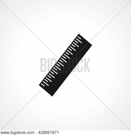Measurement Ruler Icon. Measurement Ruler Simple Vector Icon. Measurement Ruler Isolated Icon.
