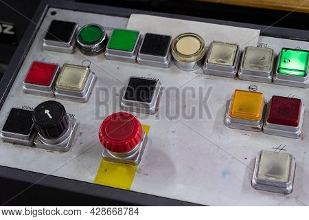 The Control Panel Of The Printing Press