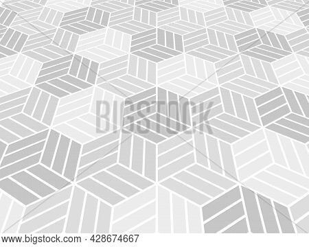 Abstract Geometric Pattern. Modern Vector Background. White And Gray Ornament. Graphic Modern Patter