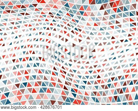 Trippy Triangles Halftone Wallpaper. Fade Triangular Shapes Banner Backdrop. Digital