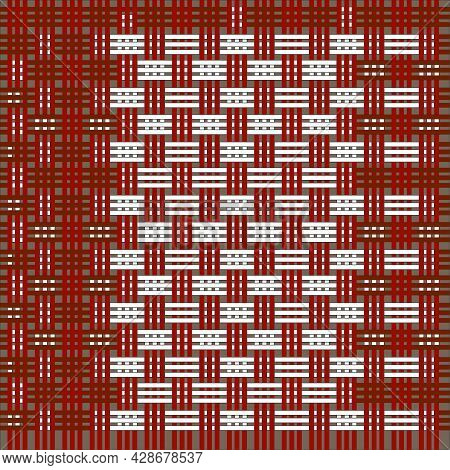 Colorful Woven With Box Pattern. The Pattern Can Be Used For A Backdrop, Book, Magazines, Web, Etc