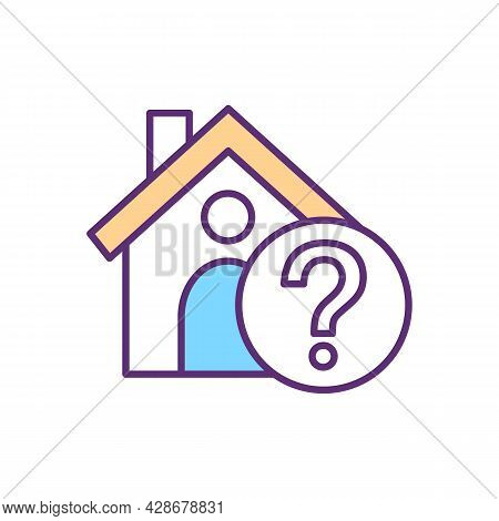 Shelter Absence Rgb Color Icon. Person Has No Home. Homeless. Human Trade Indicator. Awful Living Co