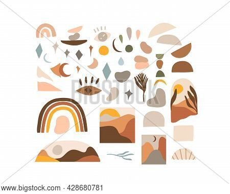 Hand Drawn Vector Abstract Stock Flat Gtraphic, Modern Clipart Contemporary Illustration, Bohemian T