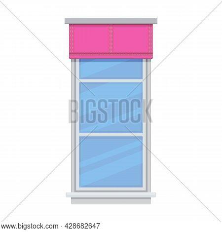 Window Blind Vector Cartoon Icon. Vector Illustration Jalousie House On White Background. Isolated C