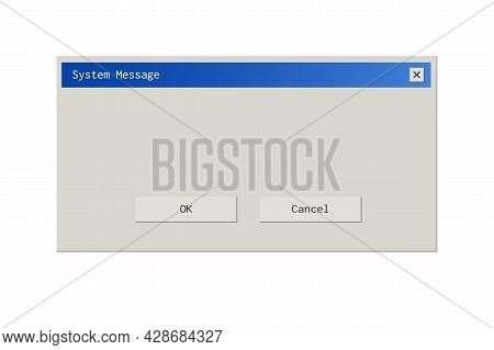 Retro Style Dialod Box Pop Up Interface.