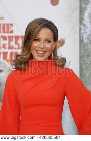 Kate Beckinsale at the Los Angeles premiere of 'The Suicide Squad' held at the Regency Village Theatre in Westwood, USA on August 2, 2021.