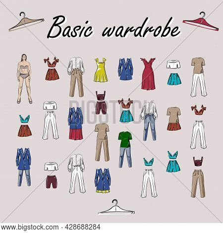 Clothes, Footwear,  Shoes And Bags. Coats, Dresses, Skirts, Blouses, Trousers, Jeans, Backpack, Brie
