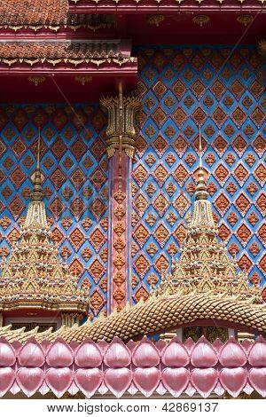Thai Buddhist Temple Detail