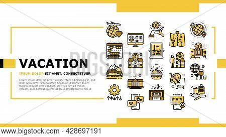 Vacation Rentals Place Landing Web Page Header Banner Template Vector. Vacation And Travel, Audio Gu