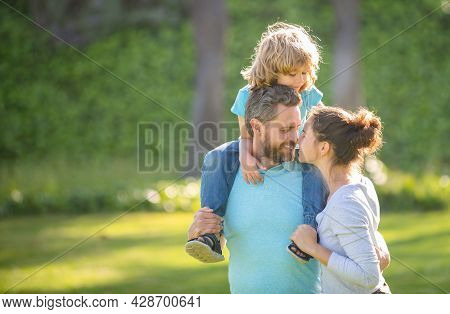 Enjoy The Moment. Happy Family With Child Enjoy Spending Time Together