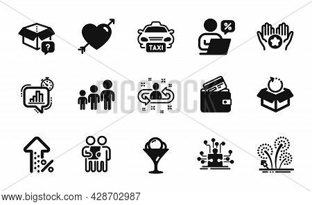 Vector Set Of Recruitment, Favorite And Return Package Icons Simple Set. Business Hierarchy, Statist