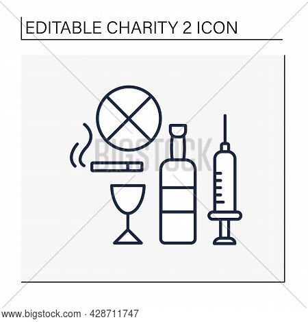 Help Line Icon. Drug, Alcohol And Abuse Charities. Organizations Help People With Treatment, Mental