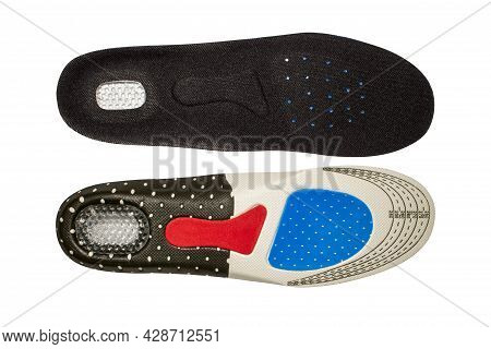 Orthopedic Insole Insulated On A White Background.orthopedic Sports Insoles.