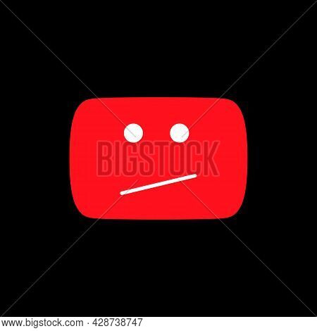 Error Red Icon. This Video Is Not Available. Social Media Element. Vector Illustration. Vector Illus