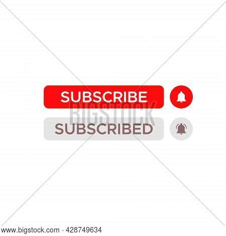 Subscribe, Subscribed Button Icon Vector - Icon