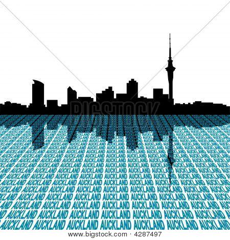 Auckland Skyline With Text