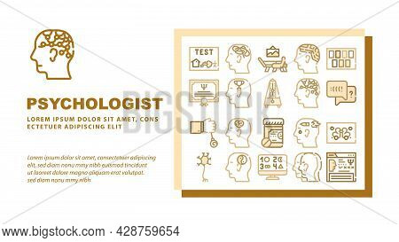 Physical Therapy Aid Landing Web Page Header Banner Template Vector. Magnetic Therapy Device And Las