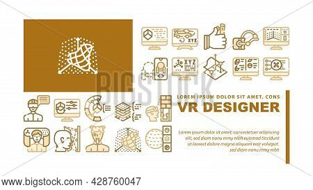 Ems Training Device Landing Web Page Header Banner Template Vector. Stimulator With Strap And Suctio