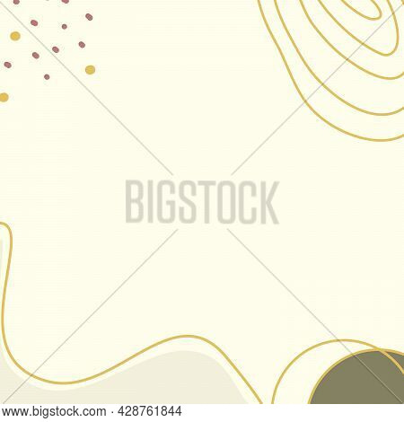 Decorative Background With Curve Line And White Blank Space With The Pastel Color