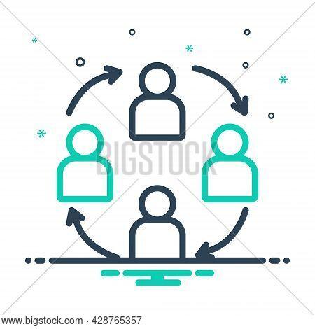 Mix Icon For Teamwork Harmony Partnership Synergy Unity Management Employee Community