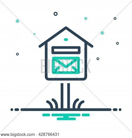 Mix Icon For Mail-box Mail Box Pobox Letterbox Communicate  Message Telegram Postage Receiver Inbox