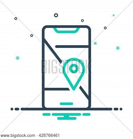 Mix Icon For Mobile-geo-localization Mobile Geo Localization Navigation Cartography Pin Direction