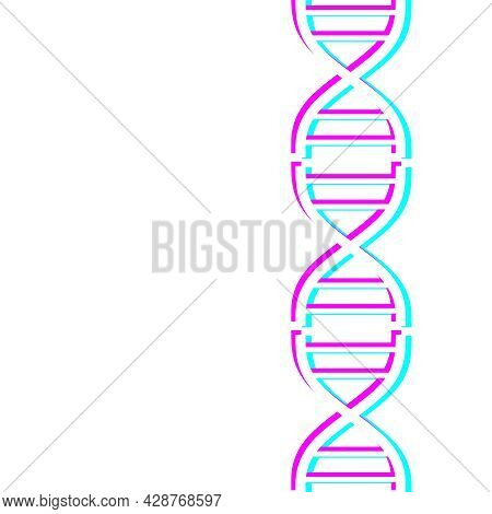 Concept Of Biochemistry With Abstract Dna Symbol In Distorted Glitch Style