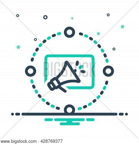 Mix Icon For Marketing-advertising Marketing Advertising Reclame Blurb Digital Megaphone Advertiseme
