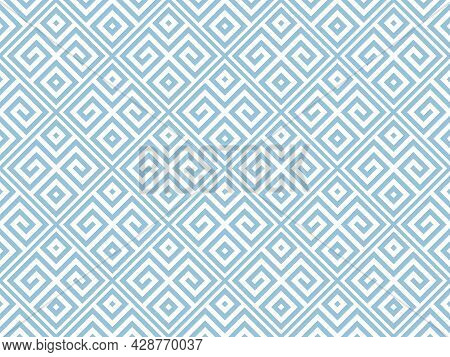 Abstract Geometric Pattern. A Seamless Vector Background. White And Blue Ornament. Graphic Modern Pa